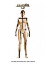 Mannequin armature femme